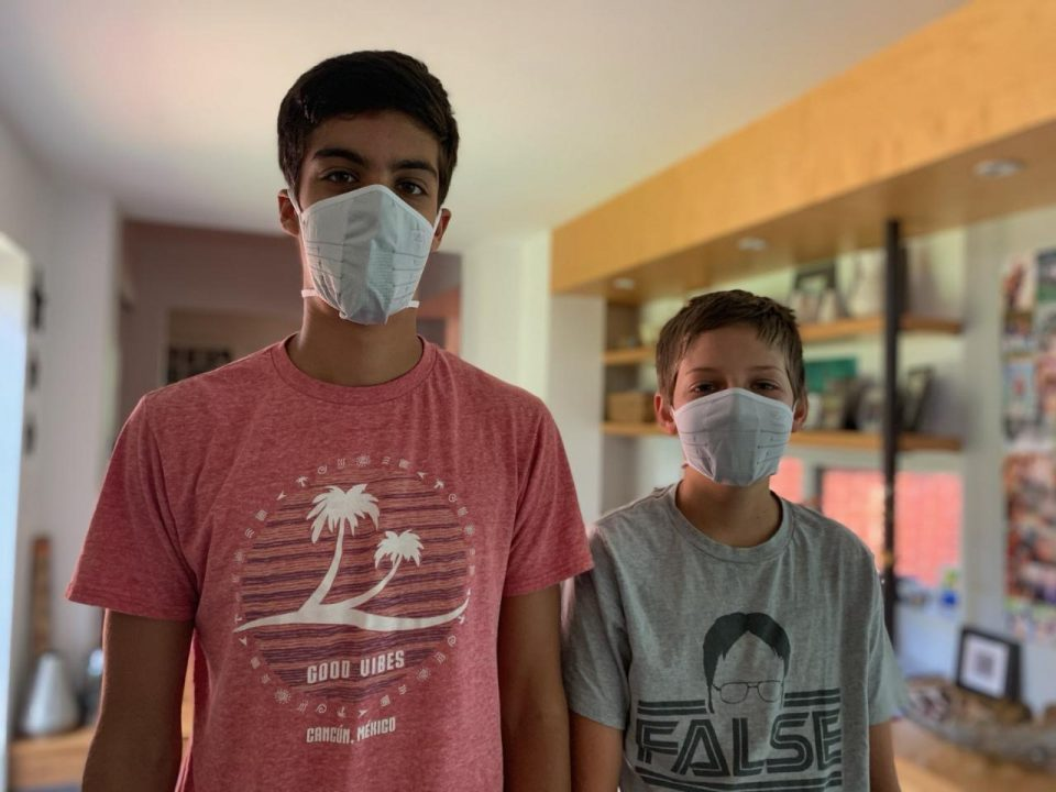 2 Boys with Zensah Face Masks